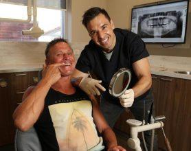 Aria-Dental-All-smiles-as-tradie-Brett-Lee-Browns-tooth-wish-granted