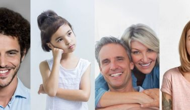 People after getting dental implants